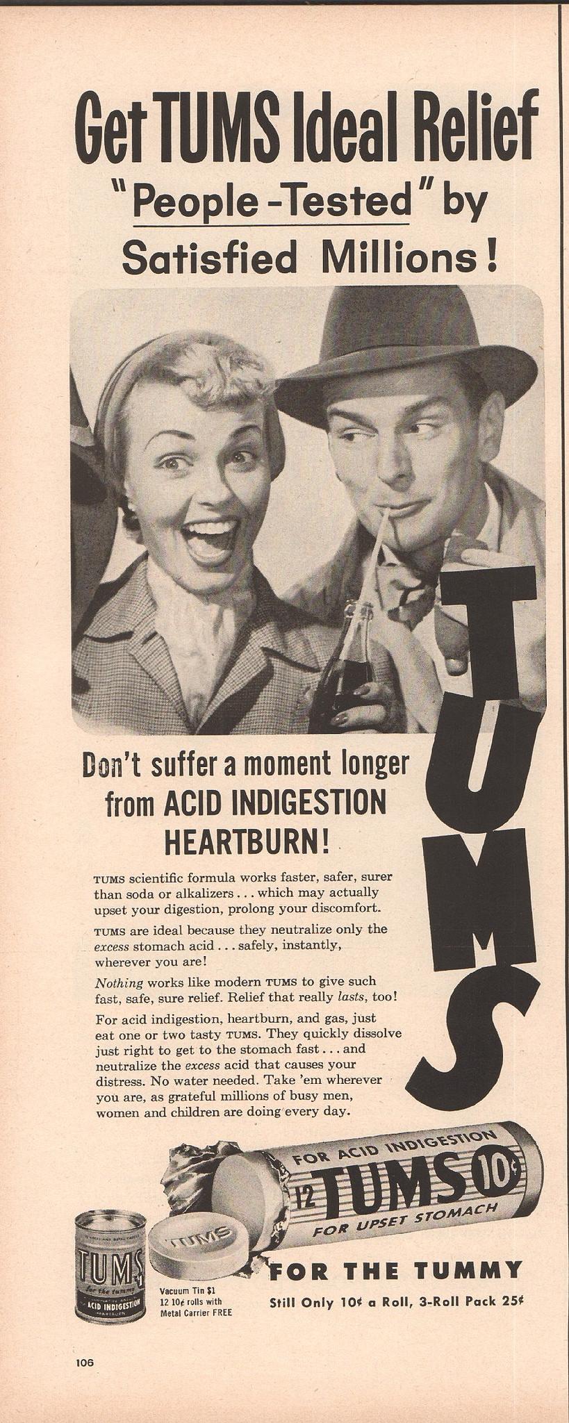 1957 Tums Ad Life Feb 11 1957