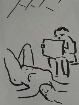 Bernhard Rusch drawing Challenge naked