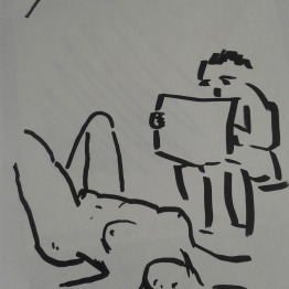 Bernhard Rusch drawing Challenge naked
