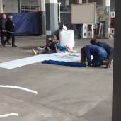 The Off Festival Space - June 2015 - munich artists installation - Artists Working