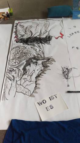 Details of Off Festival Munich Artists Installation