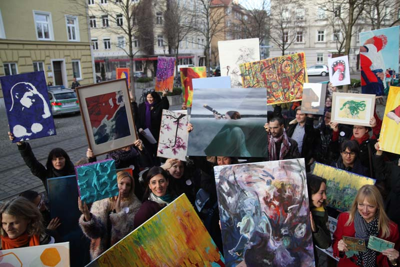 Munich artists - Stand up for your art Event, Haidhausen, Munich Germany