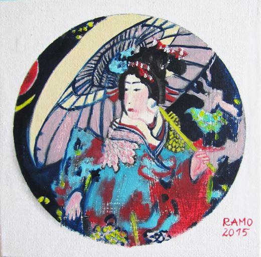 Ramona Romanu Geisha painting