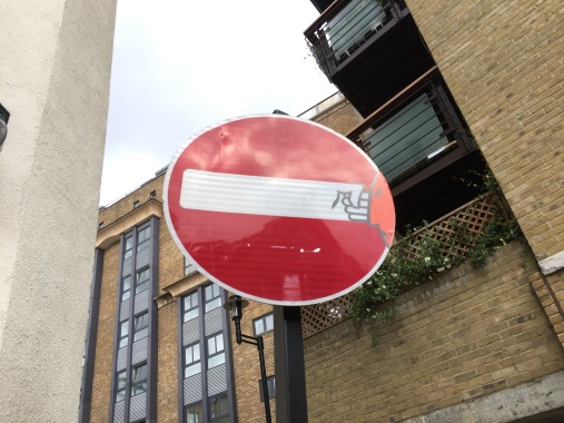 street sign in london street art