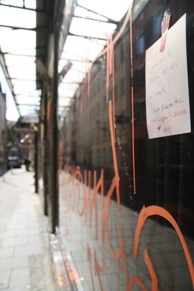 graffiti on Munich Window