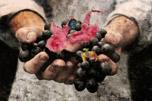 Munich Artists Michael Pitschke - Grapes