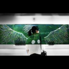 Munich Artists Katrin Klug - Day 9 - Girl on Subway