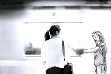 Munich Artists Gabriela Popp - Day 9 - Girl at Subway