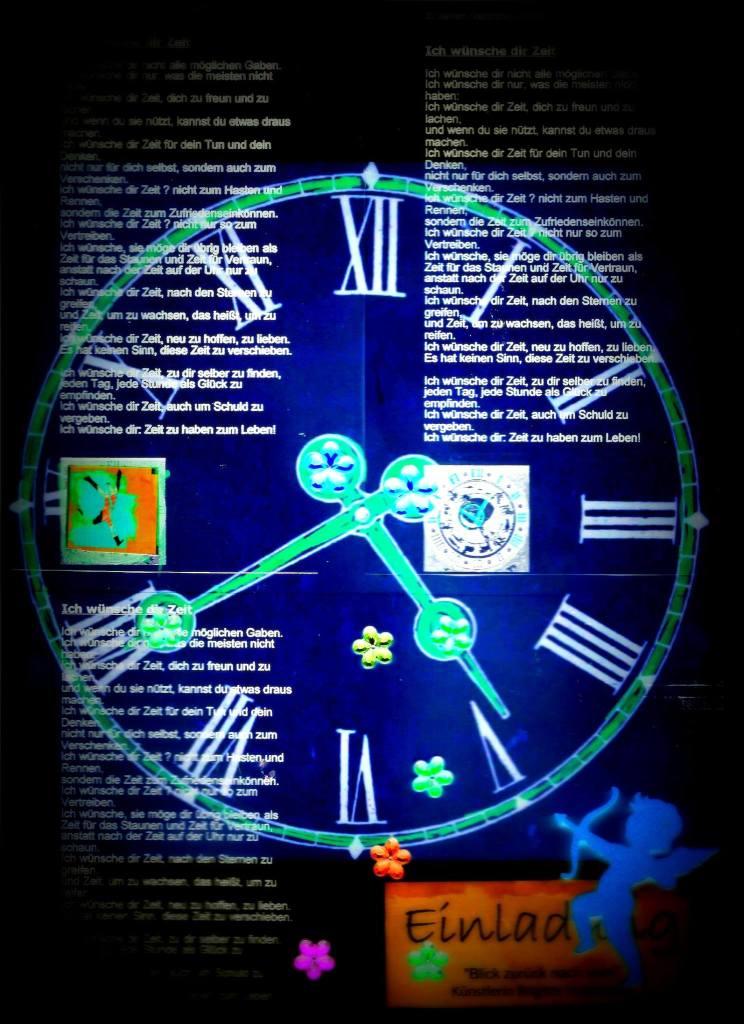 Munich Artists Brigitte Hoppstock - Clock