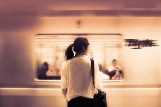 Munich Artists Michael Pitschke - Day 9 - Girl on Subway