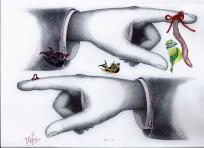 Munich Artists Katrin Klug hands