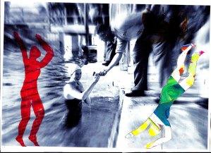 Munich Artists Brigitte Hoppstock - girl in pool
