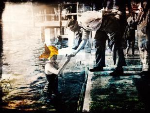 Munich Artists -Angela Josupeit - Girl in water