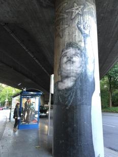 Candidplatz Street art boy and stars