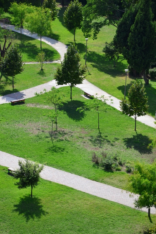 chris tomas -- park park in mostar, seen from snipers' tower  digital photopraphy -- 2013 -- 1/10 price on request, depending on size