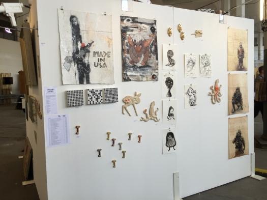 Munich Artists Modge Podge Wall