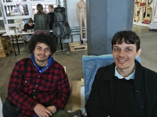 Vinicius Caps and Gallerist Philipp Dziersk