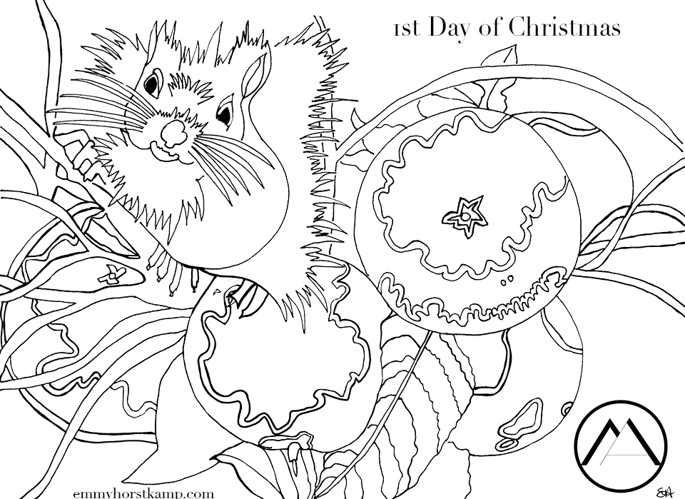 12 Days of Christmas in Munich Colouring Pages – Munich Artists