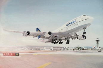 Munich Artists Michaela Wuehr - 747-400 LAX = 4000 Euro - 150cm x 100cm