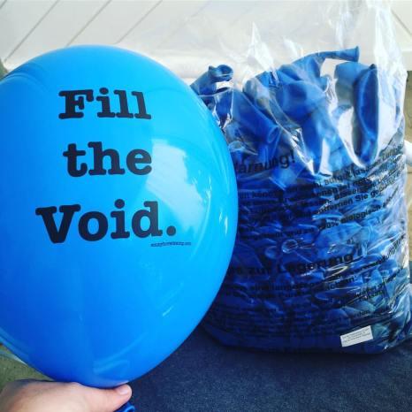 Fill the Void Installation Balloons