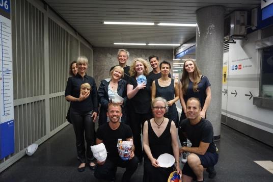 Emmy Horstkamp Installation Masks - Munich Artists Group