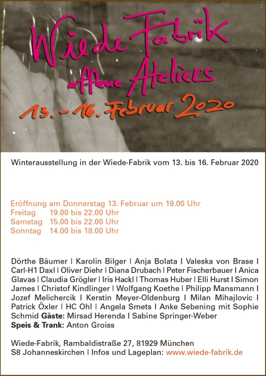 Invitation to the Wiede Fabrik Winter Exhibition