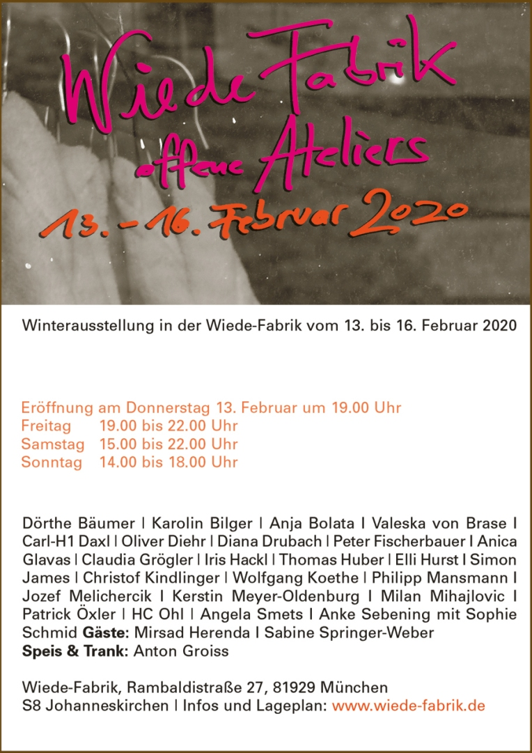 Invitation to the Wiede Fabrik Winter Exhibition
